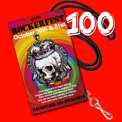 100 Badges and Lanyards Bundle Vertical