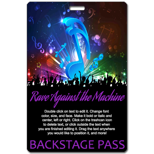 Rage Against the Machine backstage pass by Tickets and Badges