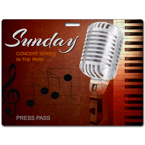 Sunday concert series in the park press pass