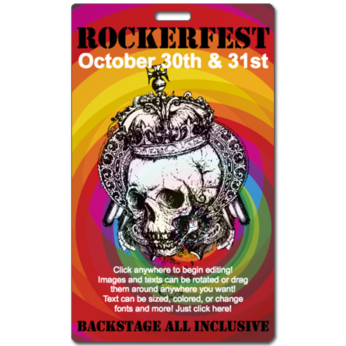 Rockerfest backstage pass printed by Tickets and Badges